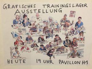Vernissage-Plakat von Reinhold Pauka